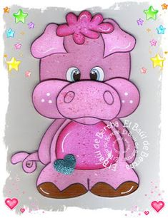 EL BAÚL DE BERTHA - MANUALIDADES: Cerdito Corazón en Foamy ó Goma Eva Baby Cartoon Characters, Cartoon Art, Cute Animal Illustration, Free Adult Coloring Pages, Paper Crafts Origami, Sewing Dolls, Animal Design, Stone Painting, Paper Piecing