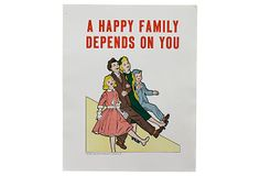 A Happy Family Poster on OneKingsLane.com