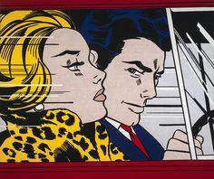 Roy Lichtenstein :  In the Car