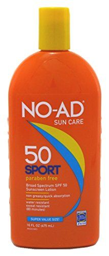 NOAD Sport Active Sunscreen Lotion SPF 50 16 oz Pack of 6 -- For more information, visit image link.
