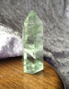 Sparkling Pale Green Fluorite energised with Heaven & Earth Starlight Essence by StarStoneCrystals on Etsy