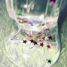 slimy sparkly!i love it!!!!!!!!!!!!!!!!!!!!!!!