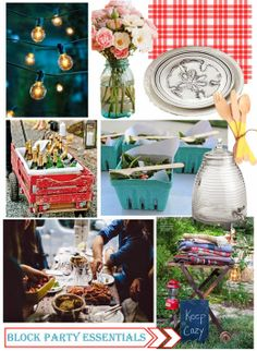 summer soiree, block party inspiration, outdoor summer party, summer party inspiration,