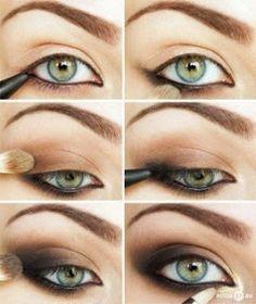 Tonalità di grigio , di viola e di marrone - questi sono i tre colori di base che si abbinano molto bene agli occhi verdi . Dato che g...