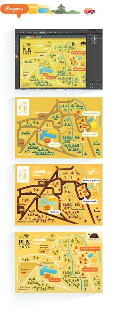 Festival map on Behance