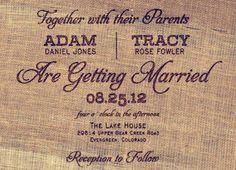 rustic burlap wedding invitations   Top 6 Rustic Wedding Invitations for Shabby Chic Weddings  