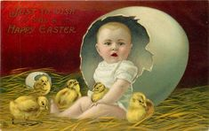 46 Trendy Ideas For Vintage Cards Spring Baby Chicks Easter Art, Hoppy Easter, Easter Crafts, Vintage Girls Rooms, Picture Tree, Spring Images, Easter Wishes, Baby Chicks, Vintage Easter