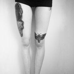Murderotic's blog: two new lovely pieces! Tatting, Body Art, Ink, Pretty, Beautiful, Legs, Happy, Artwork, Moth