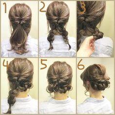浴衣に合う簡単で可愛いヘアアレンジの手順説明画像2
