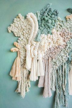 Textile art by Living Fibers Art textile de fibres vivantes Textile Tapestry, Textile Texture, Textile Fiber Art, Tapestry Weaving, Textile Artists, Texture Art, Weaving Textiles, Weaving Art, Design Textile