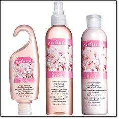 http://www.youravon.com/kryslee Naturals Cherry Blossom Shower Gel 5 fl. oz. Price: $6.00 Cherry Blossom Body Spray 8.4 fl. oz. Price: $9.00 Cherry Blossom Body Lotion 8.4 fl. oz. Price: $7.00 Cherry Blossom Pack Price: $9.99 Each, 3-Piece Pack save $12.00  on cloud 9 for… a dreamy scent