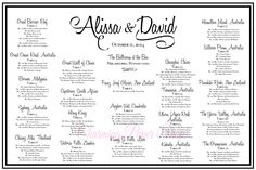 Wedding seating chart #honeyscript fun and contemporary for your wedding reception. Can be done at the last minute.  Custom seating chart from Charmingpapershop.com