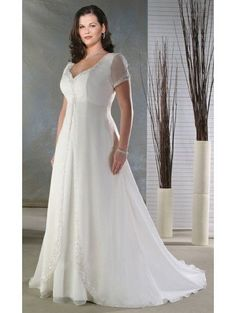 plus size empire waist wedding dresses with sleeves - Google Search