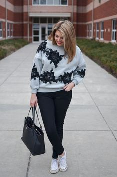 weekend outfits - how to wear a sweatshirt. Click through for more cute casual outfits or to shop this look! | http://www.bylaurenm.com