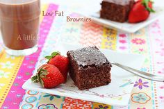 Low fat brownies by Roxana's Home Baking, via Flickr, with whole wheat pastry flour, oat bran, egg whites & cocoa powder.