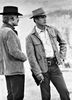 """Paul Newman and Robert Redford in """"Butch Cassidy and The Sundance Kid"""". Too-bad it's one-of-those Movies that makes-you root-for the bad-guys. Rodrigo Santoro, Michael Fassbender, Classic Hollywood, Old Hollywood, Actor Keanu Reeves, Looks Black, Black And White, Paul Newman Robert Redford, Westerns"""