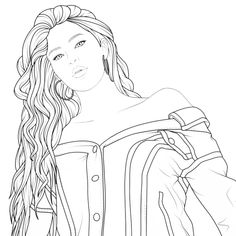 Doodle Coloring, Coloring Pages To Print, Coloring Book Pages, Coloring Sheets, Bff Drawings, Art Drawings Sketches, Dark Skin Men, Barbie Coloring, Cute Wall Decor