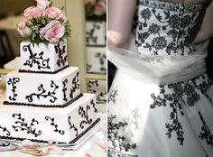 Torta de boda a juego con el vestido de novia - Loby Wedding&Events: Matrimonio in bianco e nero