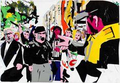 Erik Van Lieshout, name: Untitled date: 2014 dimension: 180 x 261 cm, (medium): Charcoal, acrylic, ink and vinyl on paper