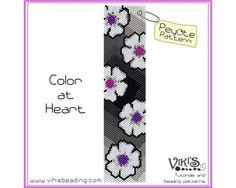 Peyote Bracelet Pattern - Color at Heart bracelet - INSTANT DOWNLOAD pdf - Buy 2 Get 1 free with coupon codes - bp19
