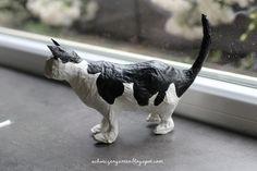 Ein Schweizer Garten: DIY - Katze aus Papiermaché - Schritt für Schritt Bildanleitung - photo tutorial step by step