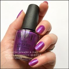 """""""samurai breaks a nail"""" - opi Tokyo collection 2019 Square Oval Nails, Round Nails, Opi Nails, Manicure, Samurai, Edge Nails, Broken Nails, Ballerina Nails, Cool Nail Designs"""