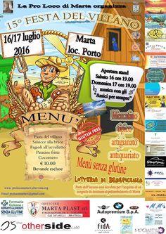 Festa del Villano 2016, a Marta (Viterbo) la XV^ edizione org. Pro Loco di Marta