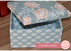 DIY - Caixa de MDF com tecido