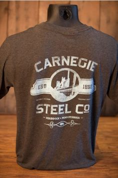 Industrialist Series | Carnegie Steel Company - T-Shirt | Men Who Built America | Pocket T-Shirt by Buffalo Jackson Trading Co