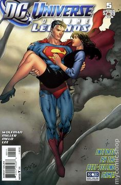 DC Universe Online Legends (2011 DC) 5 DC Comics Book cover art super heroes villians