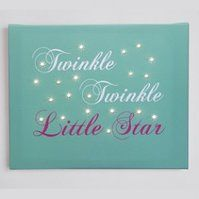 Illuminated canvas / fairy lights - 'twinkle twinkle' - uses batteries so no unsightly wires - a perfect night light