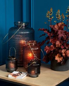 AUTUMN Laterne Mason Jar Lamp, Table Lamp, Home Decor, Decorating, Fall, Lamp Table, Decoration Home, Room Decor, Table Lamps