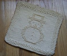 cute snowman dish cloth pattern