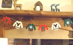 Christmas Sweater Garland Christmas garland Christmas by FeltWitch