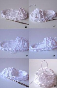 Вяжем крючком пинетки-сандалии для малышки - Ярмарка Мастеров - ручная работа, handmade