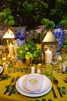 Table scape and setting by Ashley Whittaker at the Lenox Hill Neighborhood House Spring Gala in New York.