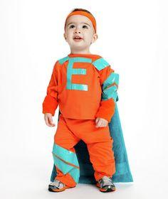 "Lyndsey, you could make Emmett hs own superhero!  Give me an ""E""!"