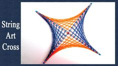 String Art Designs - How To Make Cross Pattern from String Art by Sonia ...