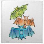 Bat Trio Napkin #halloween #happyhalloween #halloweenparty #halloweenmakeup #halloweencostume