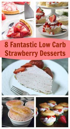 8 Fantastic Low Carb Strawberry Desserts