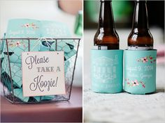 wedding koozies thank you gifts
