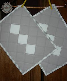 Quilts My Way: Place mats / Maty obiadowe