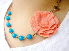 Robin's blue and coral - I WANT IT!