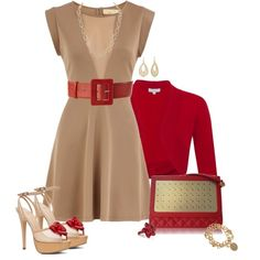 """""""2013 Clean Slate- Nude Dress"""" by sherry7411 on Polyvore"""