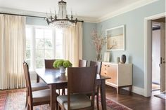 Lovely Dining Room Design with Wooden Dining Table