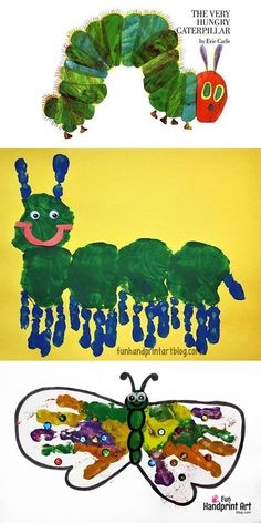 The Very Hungry Caterpillar Handprint Craft Ideas for Preschoolers