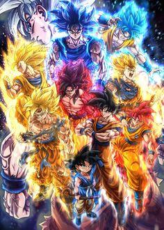 Dragon Ball Image, Dragon Ball Gt, Goku All Transformations, Goku Manga, Goku Y Vegeta, Goku Wallpaper, Super Anime, Marvel, Pokemon