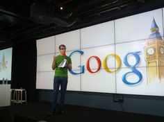 Larry Page with google glasses (project glass)