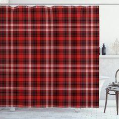 Nostalgic Striped British Shower Curtain – joocarhome Target Shower Curtains, Plaid Shower Curtain, Black Shower Curtains, Shower Curtain Sets, Drapes Curtains, Grunge Decor, Thick Curtains, Plaid Tablecloth
