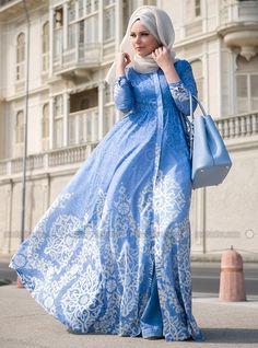 Blue Pearl Dresses - Blue - Muslima Wear